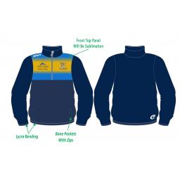 Woodley CC Tracksuit Training Jacket - 1/4 Zip