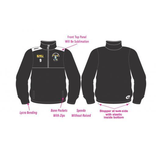 Rochdale St Clements 1/2 Zip Tracksuit Training Jacket