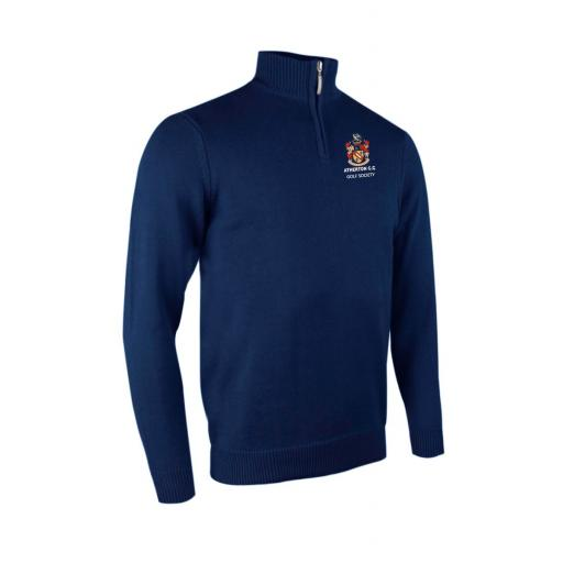 Atherton CC Golf Society Glenmuir Zip neck Cotton Sweater