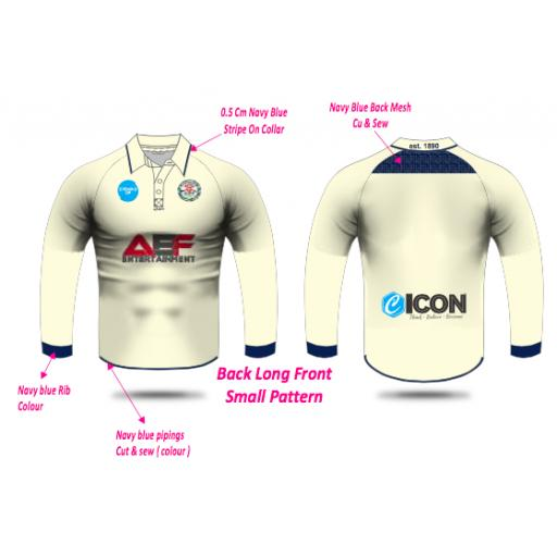Swinton Moorside CC Junior Playing Shirt - Long Sleeve
