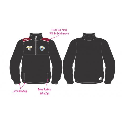 Lytham CC 1/2 Zip Tracksuit Training Top