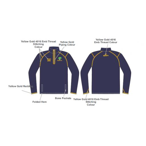 Colwyn Bay CC Training Jacket - 1/4 Zip