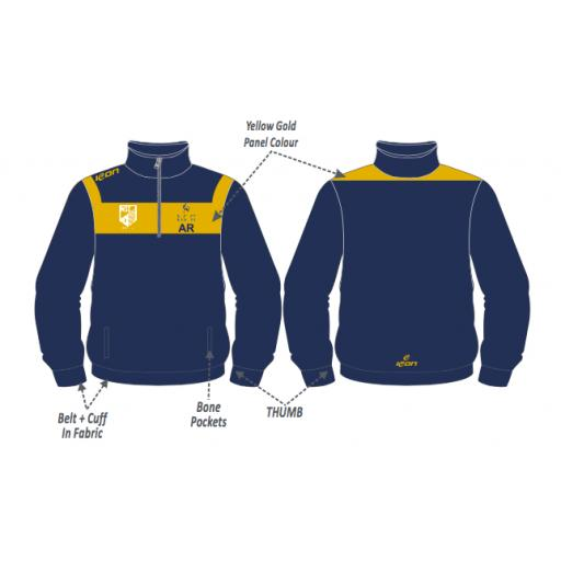 UCB Cricket Training Jacket - 1/4 Zip