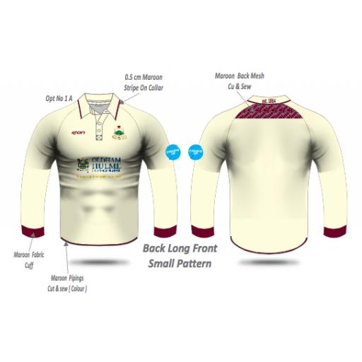 Werneth CC Playing Shirt - Long Sleeve