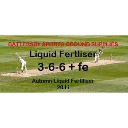 20 LITRES 50/50 AUTUMN LIQUID FERTILISER 3-6-6+FE
