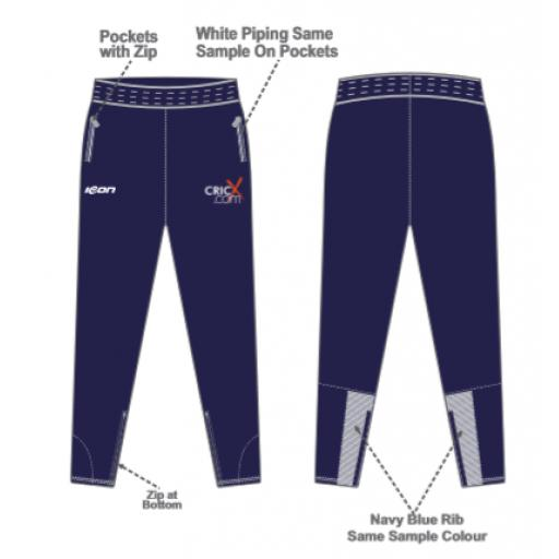 CricX Skinny Fit Track Pants