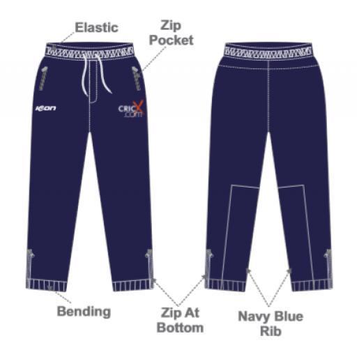 CricX Slim Fit Track Pants