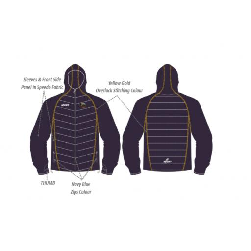 Knypersley CC Puffy Jacket/Speedo Sleeves