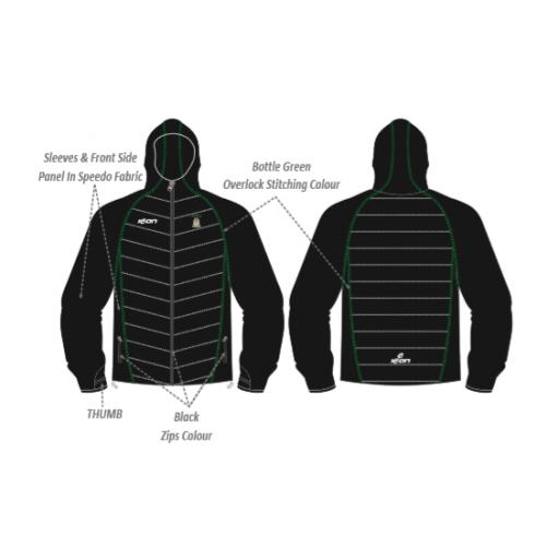 Moorside C & BC Puffy Jacket/Speedo Sleeves