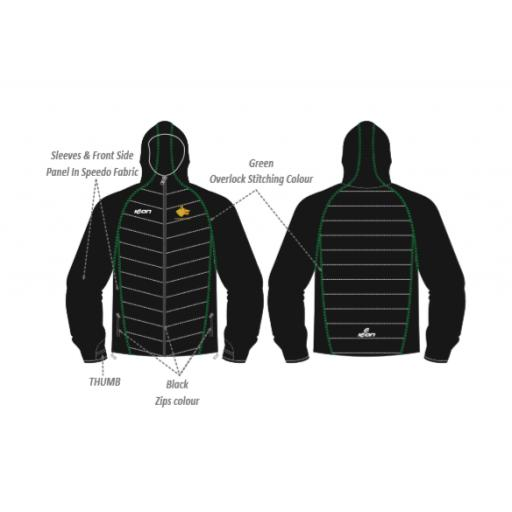 Walsden CC Puffy Jacket/Speedo Sleeves