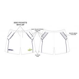Alkrington Tennis Club Training Shorts - White
