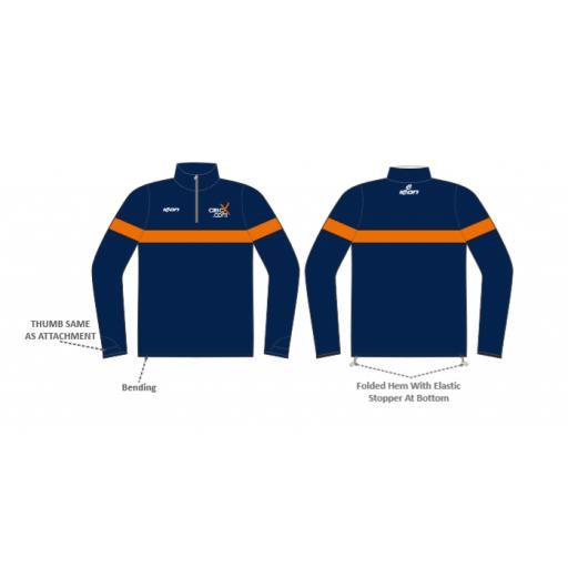 CricX Sublimated 1/4 Zip Training Jacket