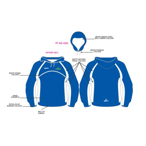 Alkrington Tennis Club Mens Hoodie - Blue