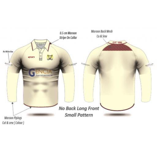 Crompton CC Playing Shirt - Long Sleeve