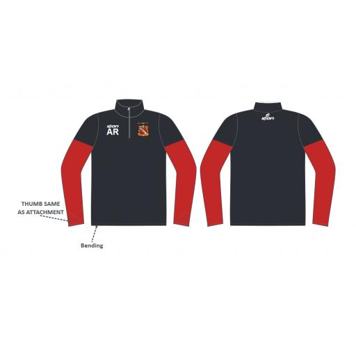 Elland CC Senior Training Jacket - 1/4 Zip