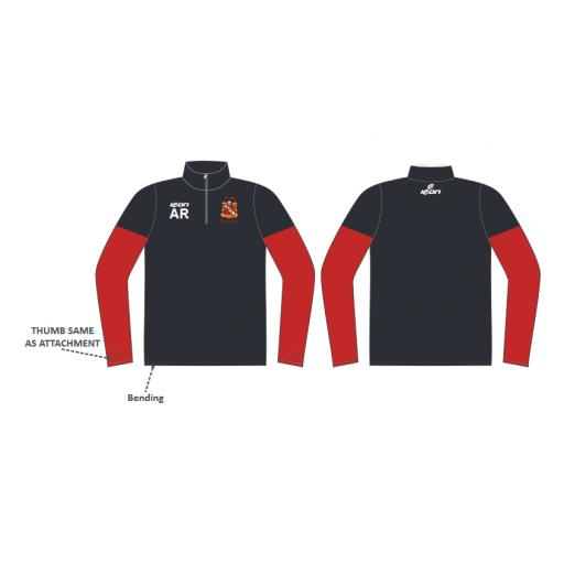 Elland CC Junior Training Jacket - 1/4 Zip