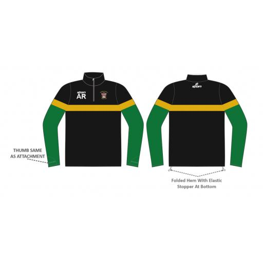 Stalybridge St Pauls CC 1/4 Zip Sublimated Training Top