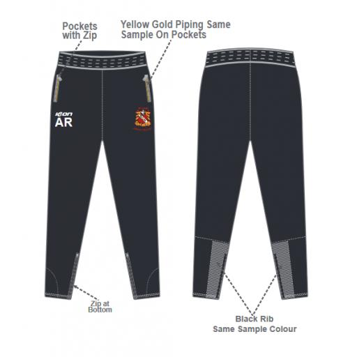Elland CC Junior Skinny Fit Track Pants