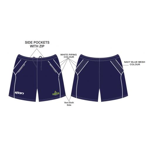 Alkrington Tennis Club Training Shorts - Blue
