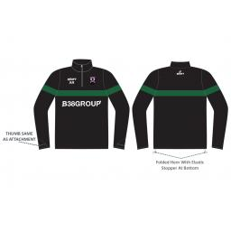 Lascelles Hall CC Junior Sublimated Training Jacket - 1/4 Zip