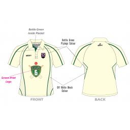 Lascelles Hall CC Junior Playing Shirt - Short Sleeve