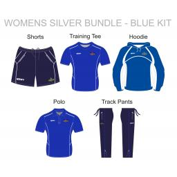 Alkrington Tennis Club Womens Silver Bundle - Blue Kit