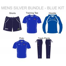 Alkrington Tennis Club Mens Silver Bundle - Blue Kit
