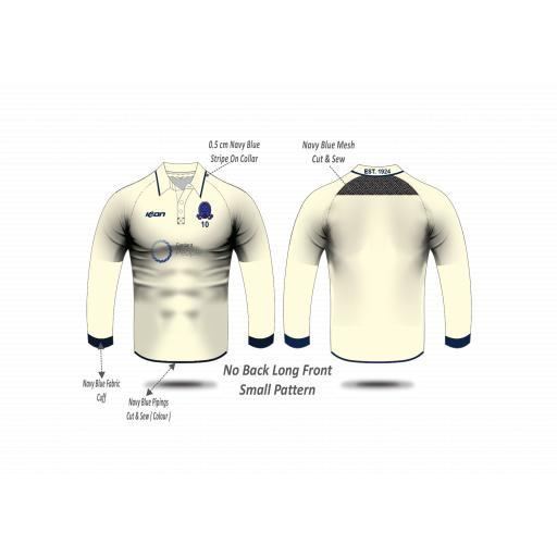 Highfield CC Playing Shirt - Long Sleeve (no sleeve sponsors)
