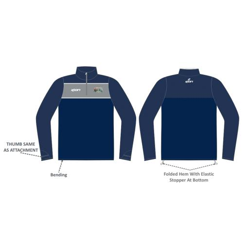 Todmorden CC 1/4 Zip Sublimated Training Top
