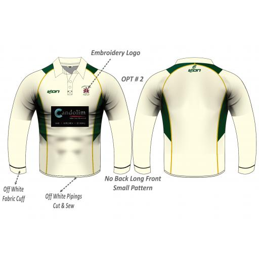 Stalybridge St Pauls CC Playing Shirt - Long Sleeve