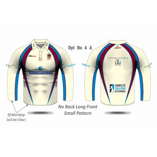 Atherton CC Long Sleeve Playing Shirt - Senior Design