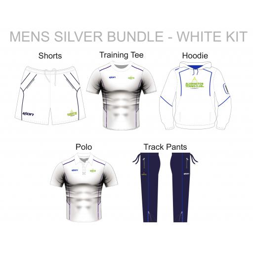 Alkrington Tennis Club Mens Silver Bundle - White Kit