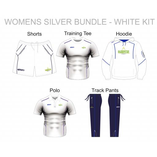 Alkrington Tennis Club Womens Silver Bundle - White Kit
