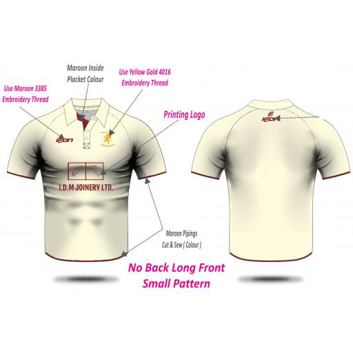 Woodhouses CC Playing Shirt - Short Sleeve