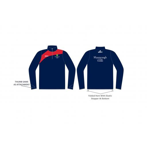 Myerscough Cricket (Manchester) 1/4 Zip Midlayer