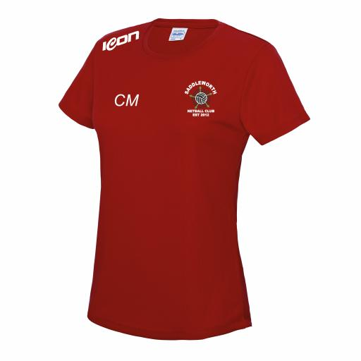Saddleworth Netball Coach Training T-Shirt (RED)