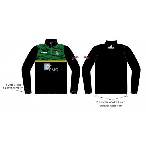 Moorside C & BC 1/4 Zip Sublimated Training Top