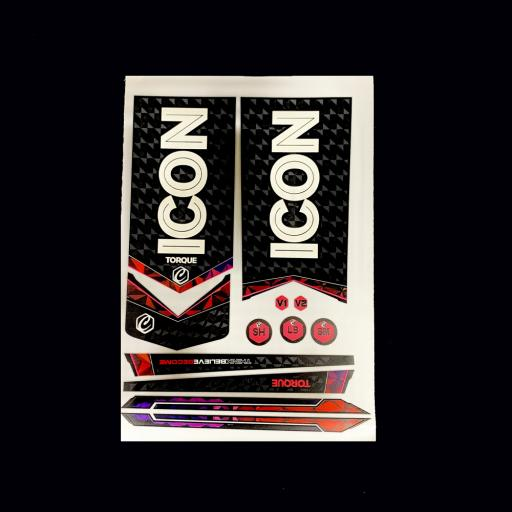 ICON Torque Bat Sticker Set
