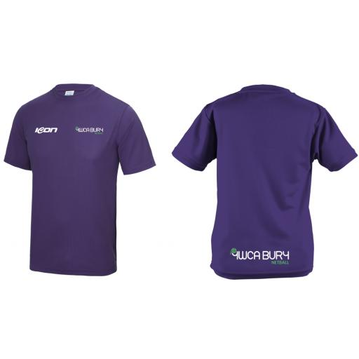 Bury Netball CLUB Training T Shirt - Short Sleeve