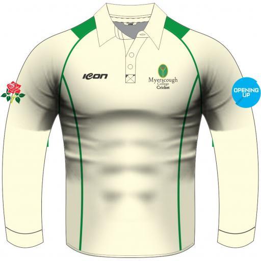 Myerscough Cricket (Preston) Long Sleeve Playing Shirt