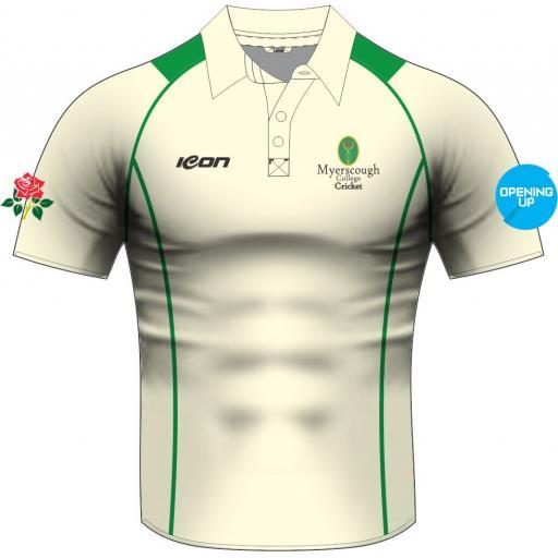 Myerscough Cricket (Preston) Short Sleeve Playing Shirt