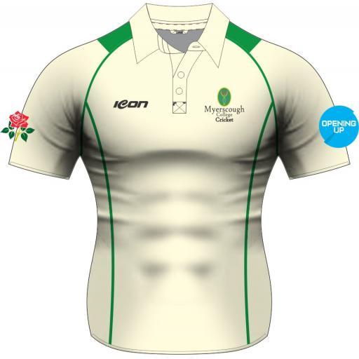 Myerscough Cricket (Preston) Short Sleeve Playing Shirt - Ladies