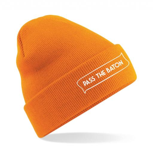 Pass The Baton original cuffed beanie