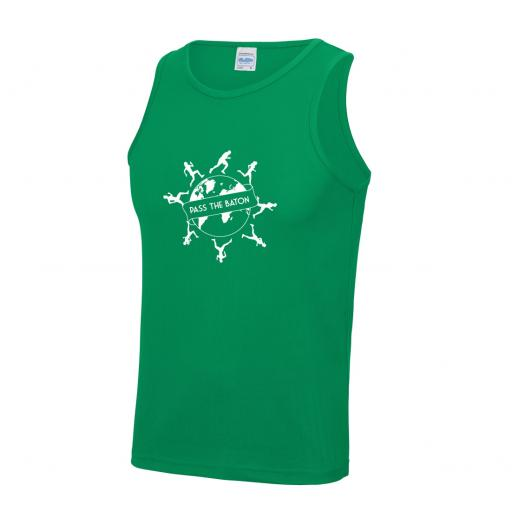 Pass The Baton men's running vest
