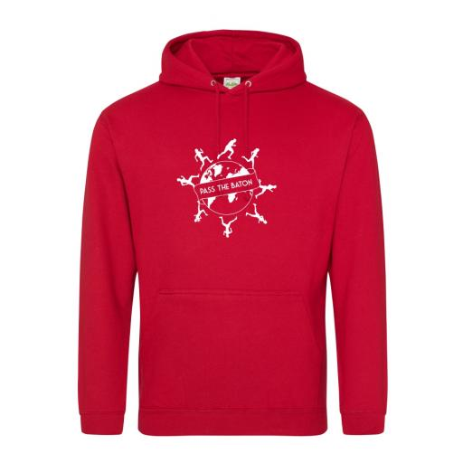 Pass The Baton men's college hoodie