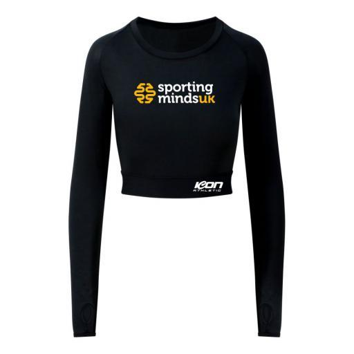 Sportingmindsuk - Ladies Long-Sleeve Crop T