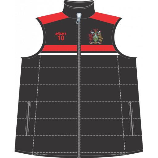 University of South Wales Cricket Puffer Vest