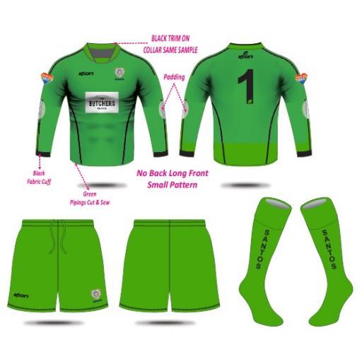 Santos AFC Under 13's Goalkeeper Kit